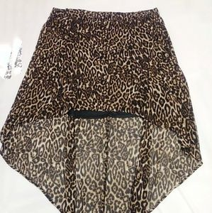 Torrid leopard print High Low Skirt